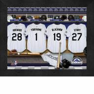 Colorado Rockies Personalized Locker Room 11 x 14 Framed Photograph