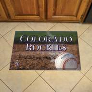 Colorado Rockies Scraper Door Mat
