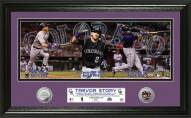 Colorado Rockies Trevor Story MLB Debut Panoramic Silver Coin Photo Mint