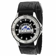 Colorado Rockies Veteran Velcro Mens Watch