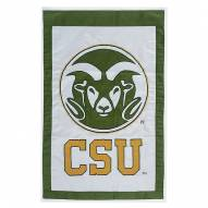 "Colorado State Rams 28"" x 44"" Double Sided Applique Flag"