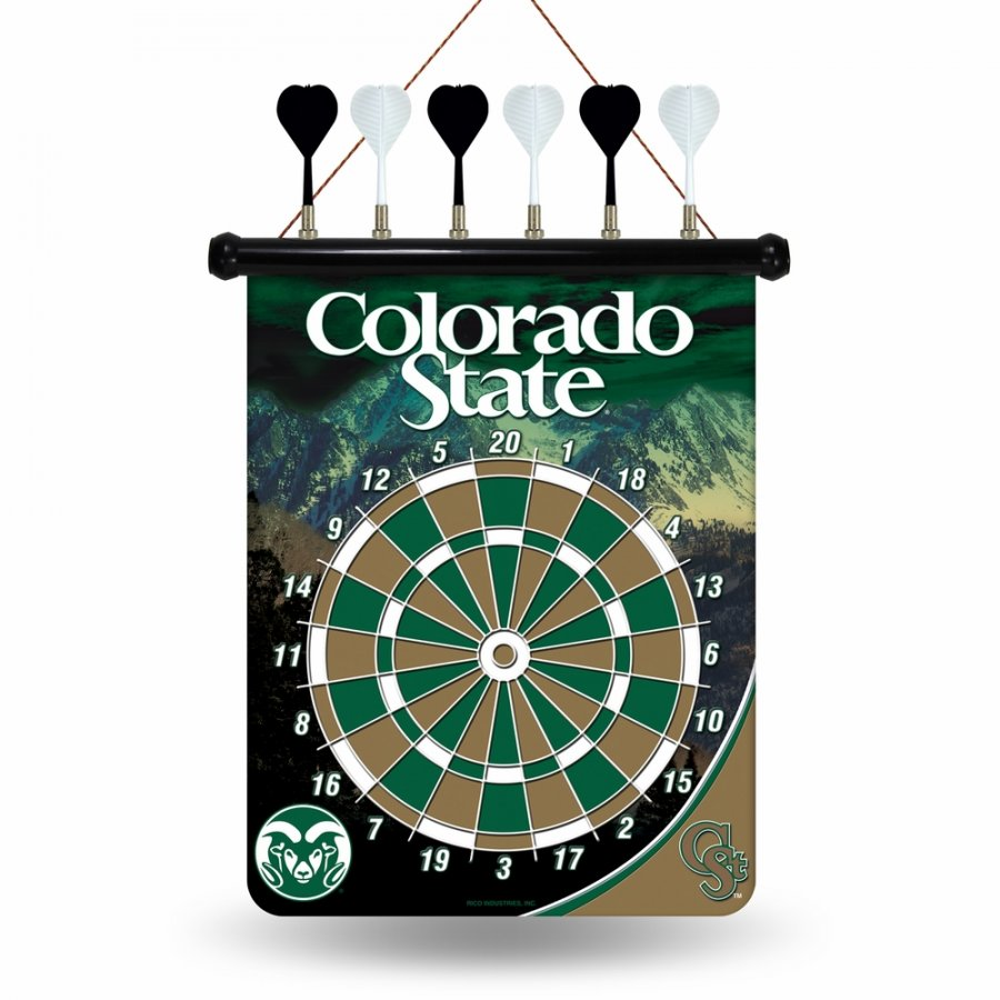 Colorado State Rams Magnetic Dart Board