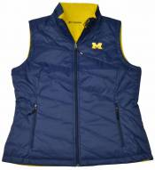 Columbia Women's Michigan Collegiate Powder Puff Vest - On Clearance