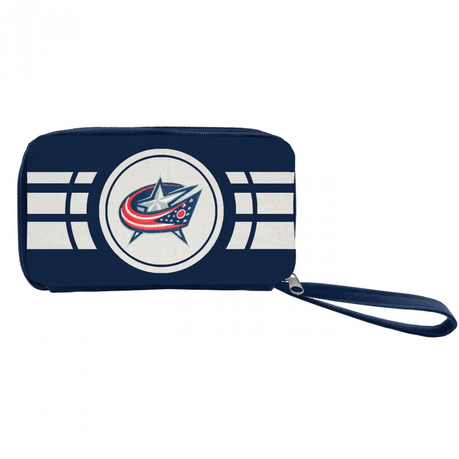 Columbus Blue Jackets Ripple Zip Wallet
