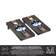 Connecticut Huskies Operation Hat Trick Stained Cornhole Game Set
