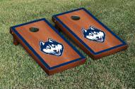 Connecticut Huskies Rosewood Stained Border Cornhole Game Set