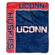 Connecticut Huskies School Spirit Raschel Throw Blanket