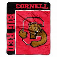 Cornell Big Red Label Raschel Throw Blanket