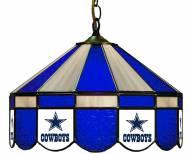 "Dallas Cowboys NFL Team 16"" Diameter Stained Glass Pub Light"