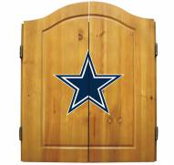 Dallas Cowboys NFL Complete Dart Board Cabinet Set (w/darts & flights)