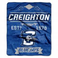Creighton Bluejays Label Raschel Throw Blanket
