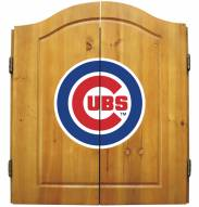 Chicago Cubs MLB Complete Dart Board Cabinet Set (w/ darts & flights)