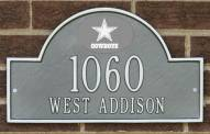 Dallas Cowboys NFL Personalized Address Plaque - Pewter Silver
