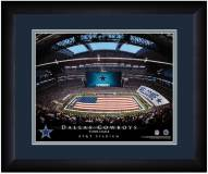 Dallas Cowboys 13 x 16 Personalized Framed Stadium Print