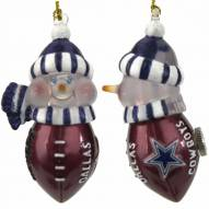 Dallas Cowboys All-Star Light Up Snowman Ornament