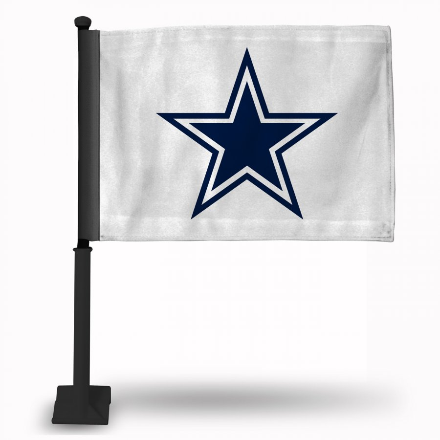 Dallas Cowboys Car Flag with Black Pole