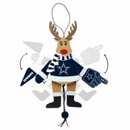 Dallas Cowboys Cheering Reindeer Ornament