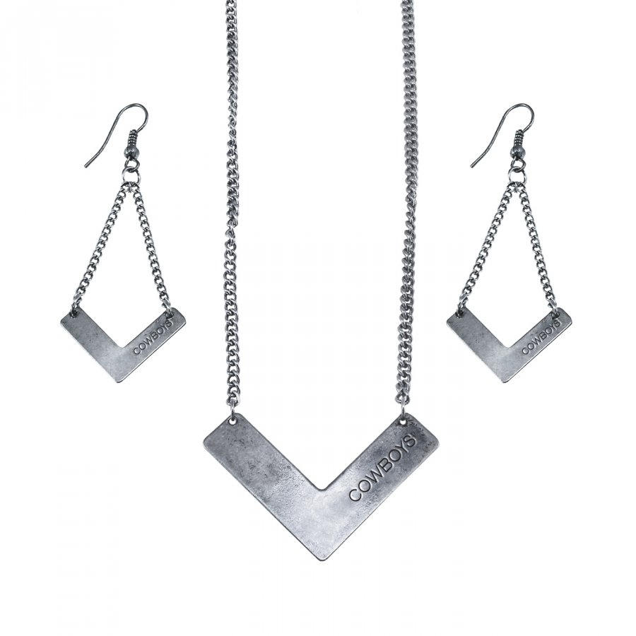 Dallas Cowboys Chevron Jewelry Set