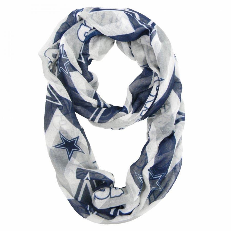 Dallas Cowboys Chevron Sheer Infinity Scarf