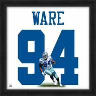Dallas Cowboys DeMarcus Ware Uniframe Framed Jersey Photo