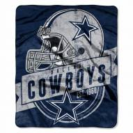 Dallas Cowboys Grand Stand Raschel Throw Blanket