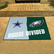 Dallas Cowboys/Philadelphia Eagles House Divided Mat