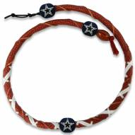Dallas Cowboys Leather Football Necklace