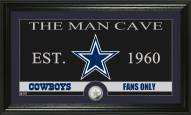 Dallas Cowboys Man Cave Minted Coin Panoramic Photo Mint