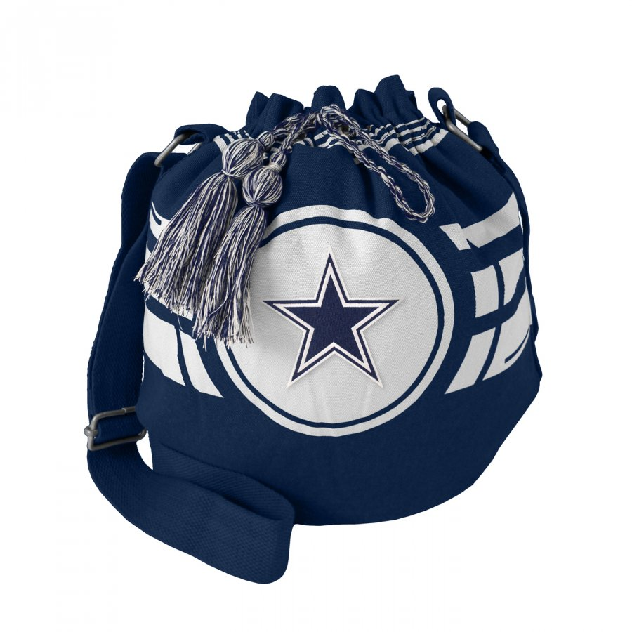 Dallas Cowboys Navy Ripple Drawstring Bucket Bag