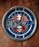 Dallas Cowboys NFL Chrome Wall Clock