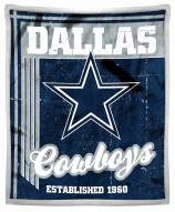 Dallas Cowboys Old School Mink Sherpa Throw Blanket