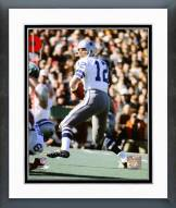 Dallas Cowboys Roger Staubach Super Bowl VI 1972 Action Framed Photo