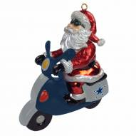 Dallas Cowboys Santa Scooter Ornament