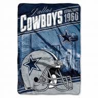 Dallas Cowboys Stagger Raschel Blanket