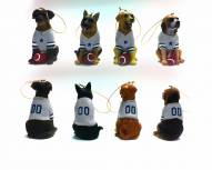Dallas Cowboys Team Dog Ornaments