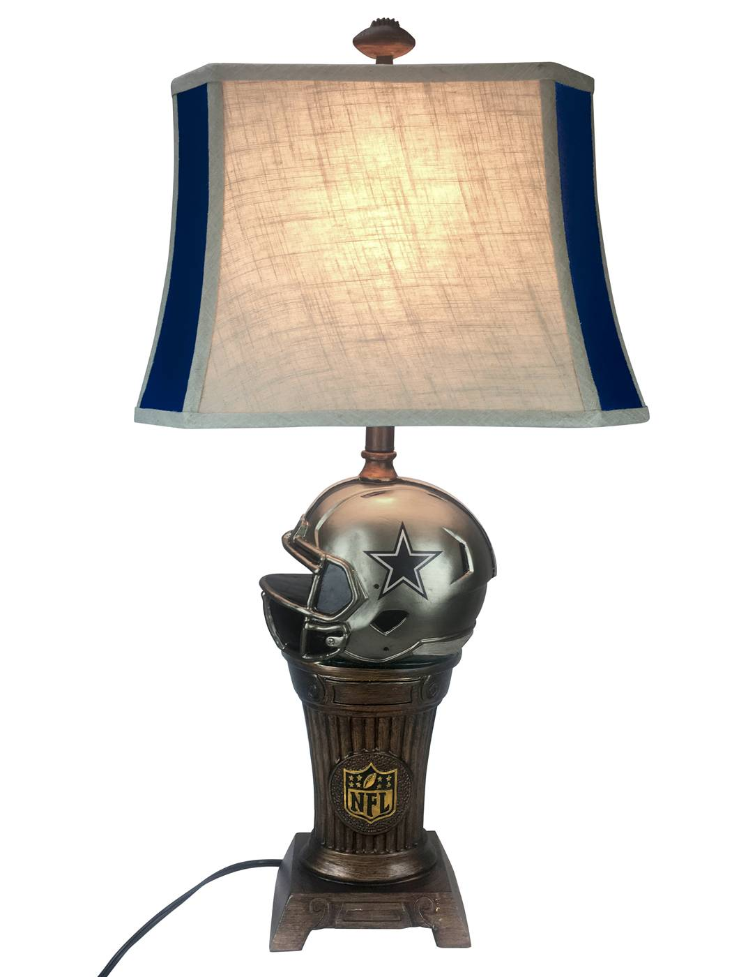 With Its Antique Appearance, The Dallas Cowboys Trophy Lamp Is Perfect For  The Fan That Appreciates A Vintage Look And Feel. It Features A Hand  Painted ...