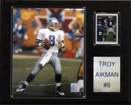 "Dallas Cowboys Troy Aikman 12 x 15"" Player Plaque"