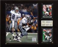"Dallas Cowboys Troy Aikman & Emmitt Smith 12 x 15"" Player Plaque"