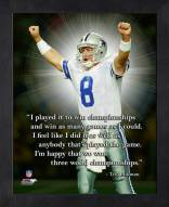 Dallas Cowboys Troy Aikman Framed Pro Quote