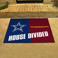 Dallas Cowboys/Washington Redskins House Divided Mat