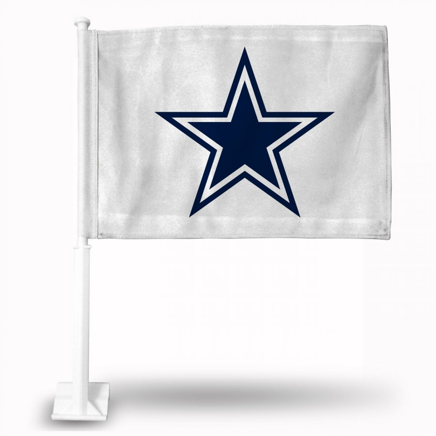 Dallas Cowboys White Car Flag
