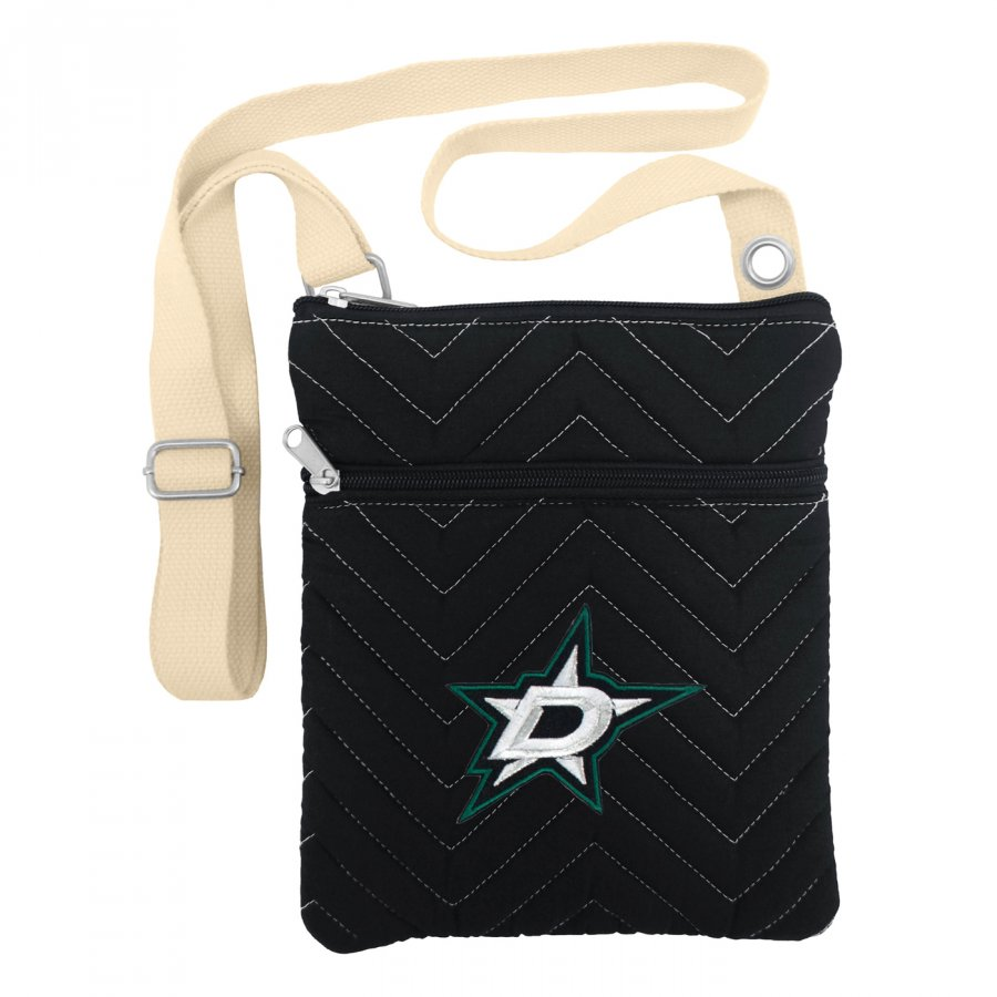 Dallas Stars Chevron Stitch Crossbody Bag