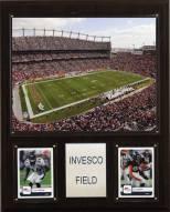 """Denver Broncos 12"""" x 15"""" Stadium Plaque"""