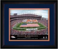 Denver Broncos 13 x 16 Personalized Framed Stadium Print