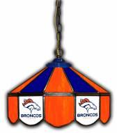 """Denver Broncos 14"""" Glass Pub Lamp"""