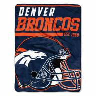Denver Broncos 40 Yard Dash Blanket