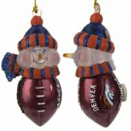 Denver Broncos All-Star Light Up Snowman Ornament