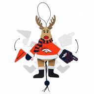 Denver Broncos Cheering Reindeer Ornament