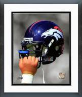 Denver Broncos Denver Broncos Helmet Spotlight Framed Photo