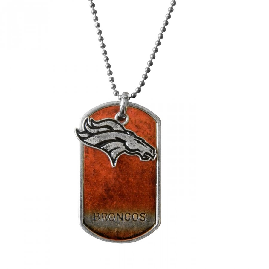 Denver Broncos Dog Tag Charm Necklace